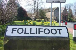 Follifoot sign