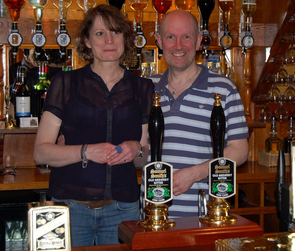 Jo and Steve at the Radcliffe Arms